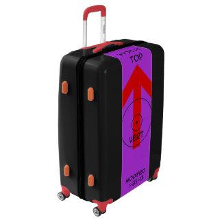 Large Sized Luggage Suitcase - vert temp