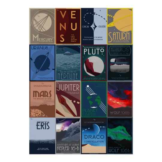 Large Space Travel Poster Collection