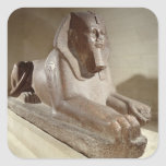 Large Sphinx, from Tanis (granite) Square Sticker