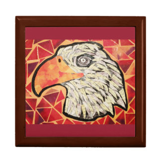 Large Square Gift Box with Bold Eagle