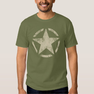Large Star Grunge Distressed Style Tshirts