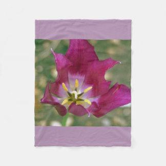 Large Stunning Purple Flower Fleece Blanket