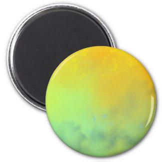 Large sunset 6 cm round magnet