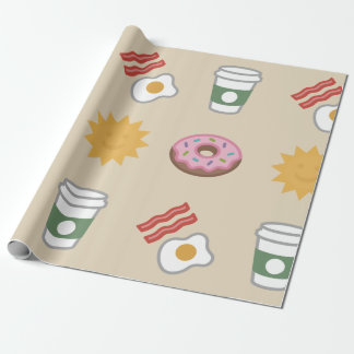 Large Sunshine Breakfast Wrapping Paper