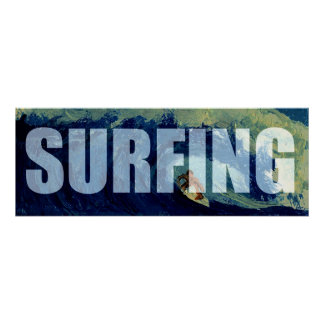 Large Surfing Banner Water Sports Poster Art