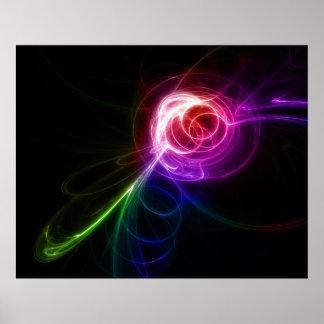 Large swirls poster