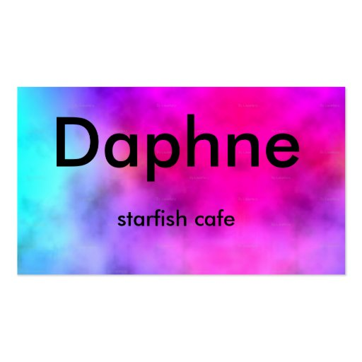 Collections of bow tie business cards largetie dyehighres daphne starfish cafe business card colourmoves