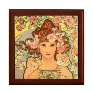 Large Tile Art Nouveau Gift Box