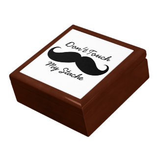 Large Tile Gift Box - Don t Touch My Stache