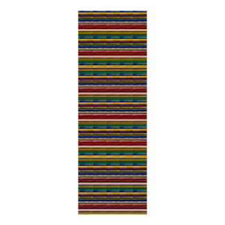 Large TILE Poster Colourful Embossed look Line Art