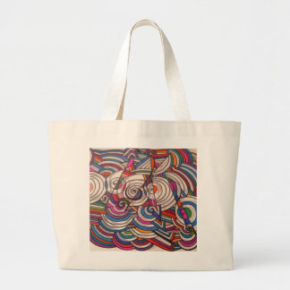Large tote with MUSICAL INSPIRATION design