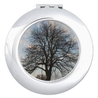Large tree circular compact mirror
