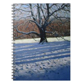 Large Tree Snow Calke Abbey Notebook