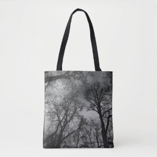 Large trees tote bag