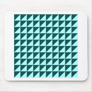 Large Triangles - Celeste and Deep Jungle Green Mouse Pad