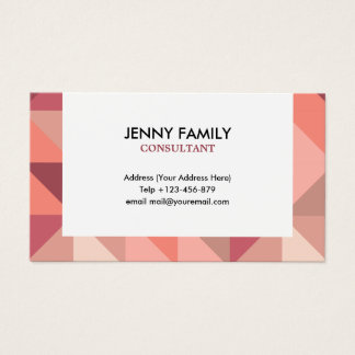 Large Triangles Geometric Business Card