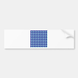 Large Triangles - Pale Blue and Navy Blue Bumper Stickers