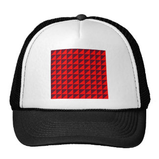 Large Triangles - Red and Dark Scarlet Cap
