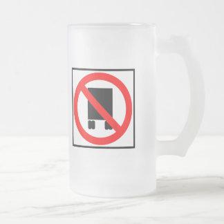 Large Trucks Prohibited Highway Sign Coffee Mug