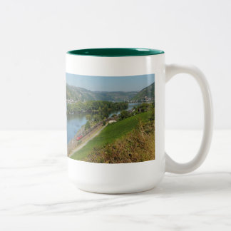 Large two-colored cup green central Rhine Valley Two-Tone Mug
