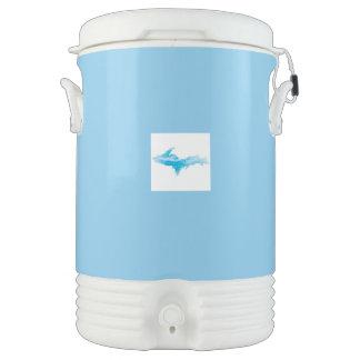Large U.P. Cooler Aqua and White