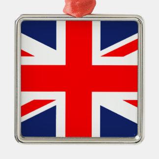 Large Union Jack.png Silver-Colored Square Decoration