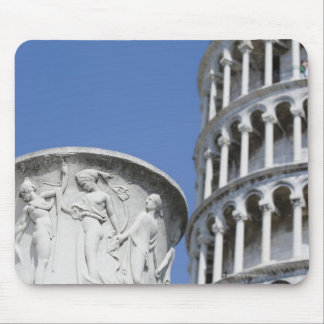 Large urn next to Leaning Tower of Pisa, Italy Mouse Pad