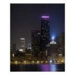 Large view of the northern Chicago skyline at Poster