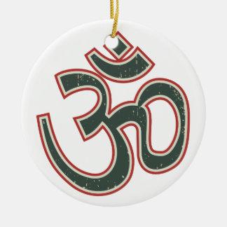Large Vintage OM Christmas Ornament