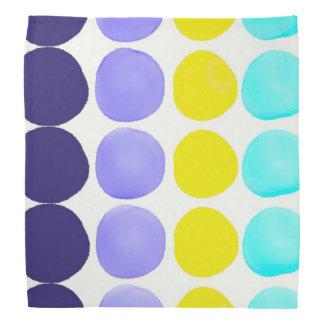 Large watercolor dots bandana