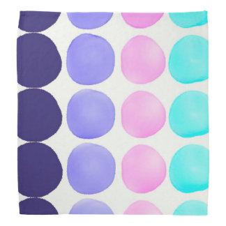 Large watercolor dots head kerchief