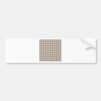 Large Weave - Almond Bumper Stickers
