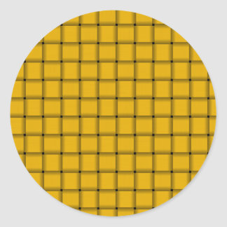 Large Weave - Amber Round Sticker