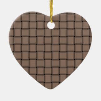Large Weave - Beaver Ceramic Heart Decoration