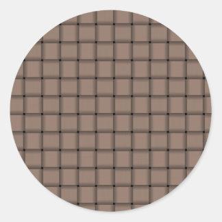 Large Weave - Beaver Round Sticker