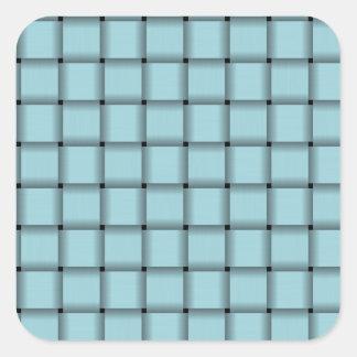 Large Weave - Blizzard Blue Square Sticker