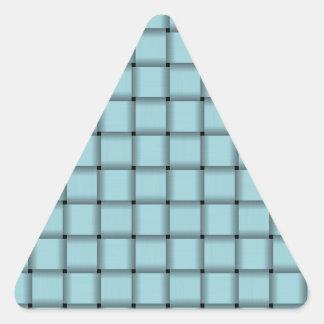 Large Weave - Blizzard Blue Triangle Sticker