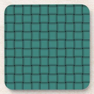 Large Weave - Celadon Green Beverage Coaster