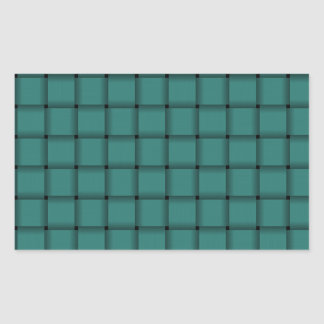 Large Weave - Celadon Green Rectangle Stickers