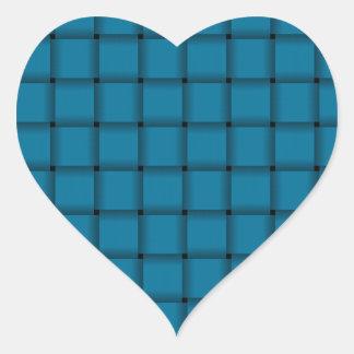 Large Weave - Cerulean Heart Sticker