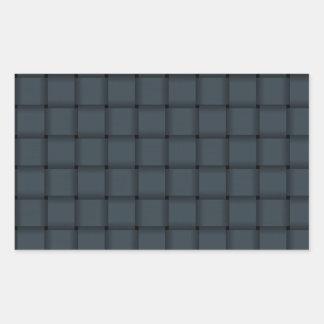 Large Weave - Charcoal Rectangular Sticker