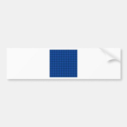 Large Weave - Cobalt Bumper Sticker