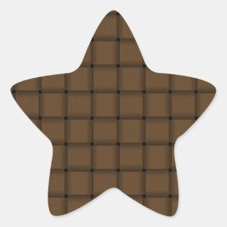Large Weave - Dark Brown Star Sticker