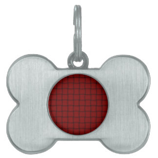 Large Weave - Dark Red Pet Tag