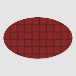Large Weave - Dark Red Stickers