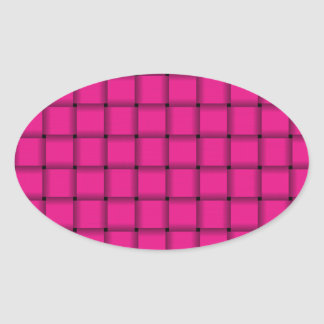Large Weave - Deep Pink Sticker