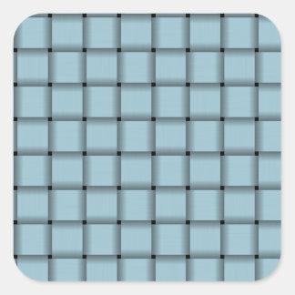 Large Weave - Light Blue Square Sticker