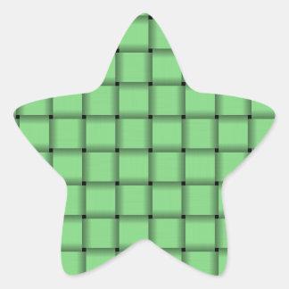 Large Weave - Light Green Star Sticker