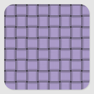Large Weave - Light Pastel Purple Square Sticker