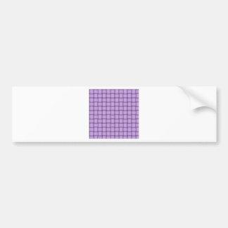 Large Weave - Mauve Bumper Sticker
